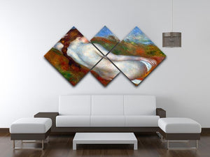 Reclining nude by Renoir 4 Square Multi Panel Canvas - Canvas Art Rocks - 3