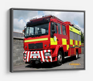 Red British fire engine HD Metal Print