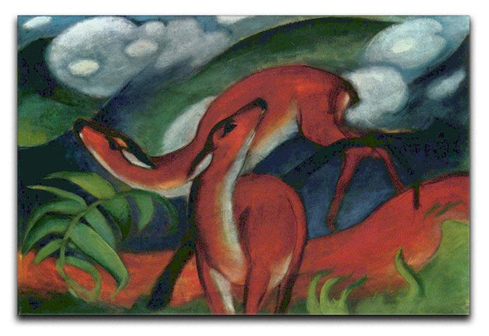 Red Deer II by Franz Marc Canvas Print or Poster