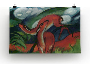 Red Deer II by Franz Marc Canvas Print or Poster - Canvas Art Rocks - 2