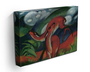 Red Deer II by Franz Marc Canvas Print or Poster - Canvas Art Rocks - 3
