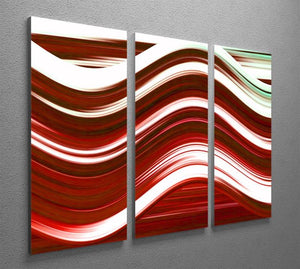 Red Wave 3 Split Panel Canvas Print - Canvas Art Rocks - 2