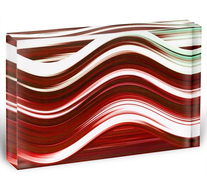 Red Wave Acrylic Block