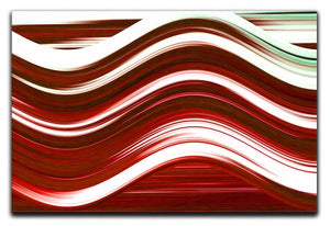 Red Wave Canvas Print or Poster - Canvas Art Rocks - 1