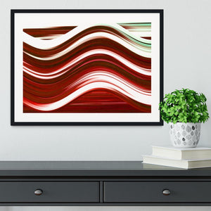 Red Wave Framed Print - Canvas Art Rocks - 1