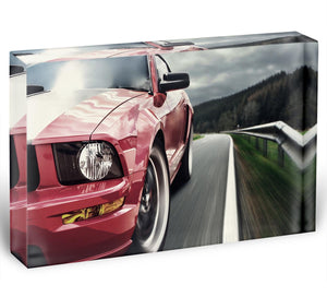 Red sport car Acrylic Block - Canvas Art Rocks - 1