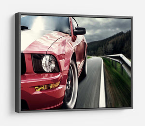Red sport car HD Metal Print