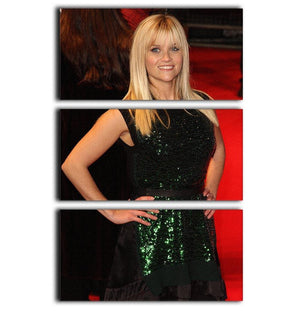 Reese Witherspoon Red Carpet 3 Split Panel Canvas Print - Canvas Art Rocks - 1