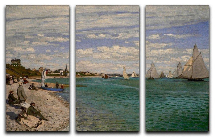 Regatta at St. Adresse by Monet Split Panel Canvas Print