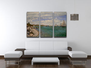 Regatta at St. Adresse by Monet Split Panel Canvas Print - Canvas Art Rocks - 4
