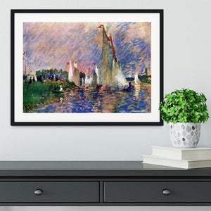 Regatta in Argenteuil by Renoir Framed Print - Canvas Art Rocks - 1