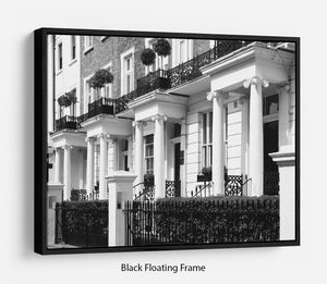 Regency Georgian terraced town house Floating Frame Canvas