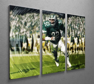 Reggie White 3 Split Panel Canvas Print - Canvas Art Rocks - 2