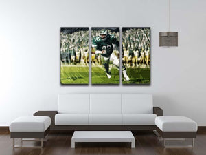 Reggie White 3 Split Panel Canvas Print - Canvas Art Rocks - 3