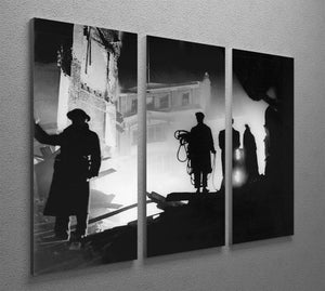 Rescuers in Soho London 3 Split Panel Canvas Print - Canvas Art Rocks - 2