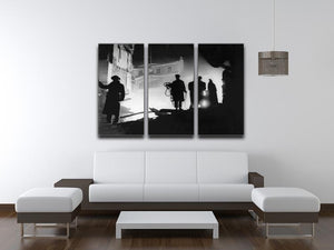 Rescuers in Soho London 3 Split Panel Canvas Print - Canvas Art Rocks - 3