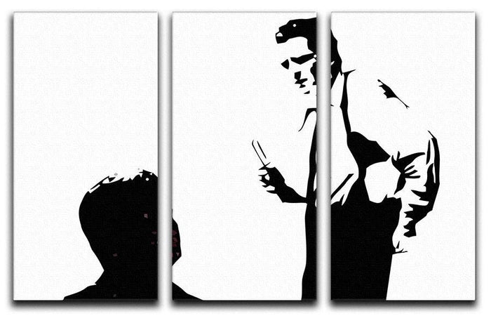 Reservoir Dogs Black and White 3 Split Panel Canvas Print