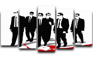 Reservoir Dogs Blood 5 Split Panel Canvas  - Canvas Art Rocks - 1