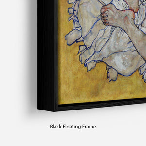 Resting nude by Egon Schiele Floating Frame Canvas - Canvas Art Rocks - 2