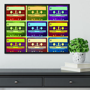 Retro Tape Cassettes Framed Print - Canvas Art Rocks - 2