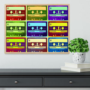 Retro Tape Cassettes Framed Print - Canvas Art Rocks - 4