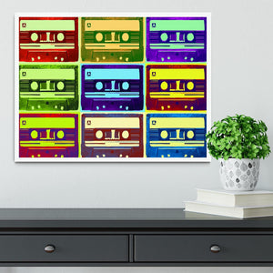 Retro Tape Cassettes Framed Print - Canvas Art Rocks -6
