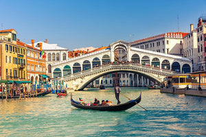Rialto Bridge Venice Wall Mural Wallpaper - Canvas Art Rocks - 1