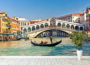 Rialto Bridge Venice Wall Mural Wallpaper - Canvas Art Rocks - 4