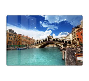 Rialto bridge in Venice HD Metal Print