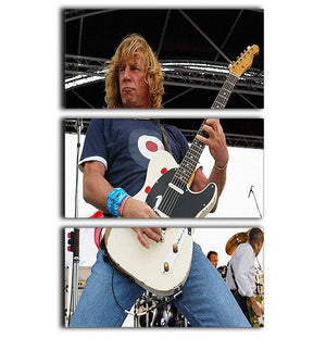 Rick Parfitt of Status Quo 3 Split Panel Canvas Print - Canvas Art Rocks - 1