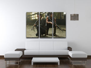 Rick and Daryl The Walking Dead 3 Split Panel Canvas Print - Canvas Art Rocks