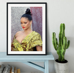 Rihanna goes formal Framed Print - Canvas Art Rocks - 1