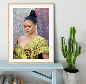 Rihanna goes formal Framed Print - Canvas Art Rocks - 3