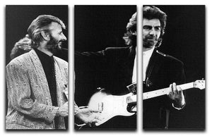 Ringo Starr and George Harrison in 1988 3 Split Panel Canvas Print - Canvas Art Rocks - 1