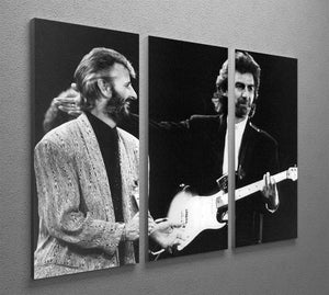Ringo Starr and George Harrison in 1988 3 Split Panel Canvas Print - Canvas Art Rocks - 2