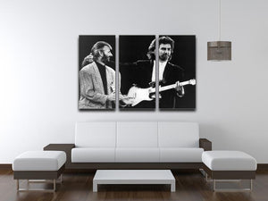 Ringo Starr and George Harrison in 1988 3 Split Panel Canvas Print - Canvas Art Rocks - 3