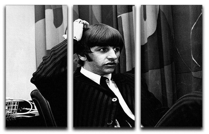 Ringo Starr at a press conference 3 Split Panel Canvas Print