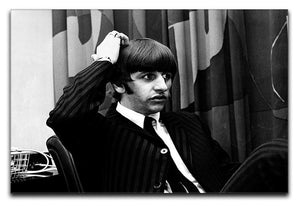 Ringo Starr at a press conference Canvas Print or Poster  - Canvas Art Rocks - 1