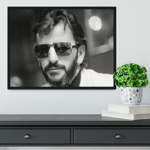 Ringo Starr former Beatle Framed Print - Canvas Art Rocks - 2