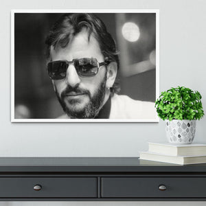 Ringo Starr former Beatle Framed Print - Canvas Art Rocks -6