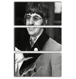 Ringo Starr of The Beatles in 1967 3 Split Panel Canvas Print - Canvas Art Rocks - 1