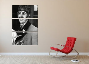 Ringo Starr of The Beatles in 1967 3 Split Panel Canvas Print - Canvas Art Rocks - 2