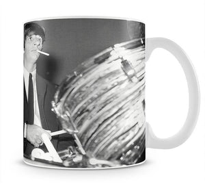 Ringo Starr playing the drums Mug - Canvas Art Rocks - 1