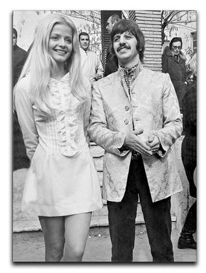 Ringo with actress Ewa Aulin Canvas Print or Poster  - Canvas Art Rocks - 1
