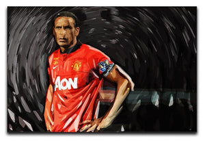 Rio Ferdinand Manchester United Canvas Print or Poster  - Canvas Art Rocks - 1
