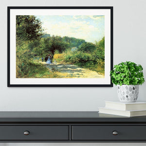 Road to Louveciennes by Renoir Framed Print - Canvas Art Rocks - 1