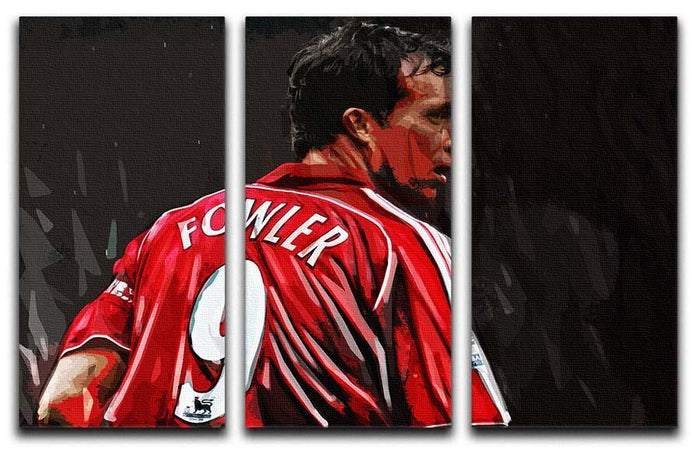 Robbie Fowler Liverpool 3 Split Panel Canvas Print