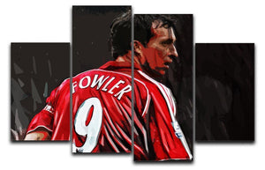 Robbie Fowler Liverpool 4 Split Panel Canvas  - Canvas Art Rocks - 1