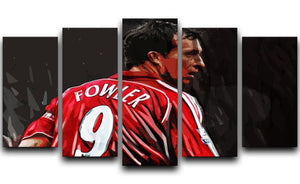 Robbie Fowler Liverpool 5 Split Panel Canvas  - Canvas Art Rocks - 1