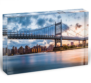 Robert F Kennedy Bridge Acrylic Block - Canvas Art Rocks - 1